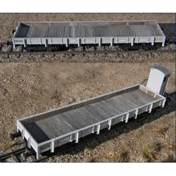 MABAR 81407. H0 Set 2 vagones borde bajo forrados de madera.