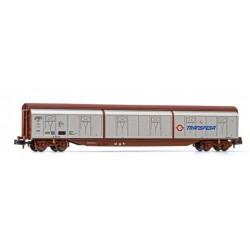 ARNOLD 6485. N Vagón de paredes corredizas TRANSFESA, plata.