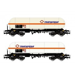 ELECTROTREN HE6004. H0 Set 2 vagones cisternas Renfe, TRANSFESA.
