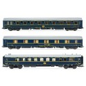 ELECTROTREN 18038. H0 Set de 3 coches RENFE/CIWL.