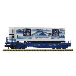 FLEISCHMANN 845374. N Vagón Plataforma con contenedor FONT VELLA