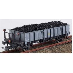 KTRAIN 0704-K. H0 Vagón abierto RENFE con balconcillo, gris, con luces de cola.