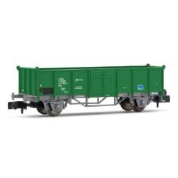 Vagón abierto tipo E, verde y gris RENFE
