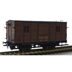 MABAR 81331. H0 Furgón DV61152 RENFE, madera oscuro