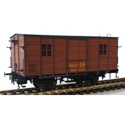 MABAR 81334. H0 Furgón DV61250 RENFE, madera clara.