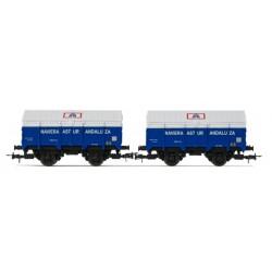 ELECTROTREN HE6010. H0 Set de 2 vagones RENFE, NAVIERA ASTUR ANDALUZA