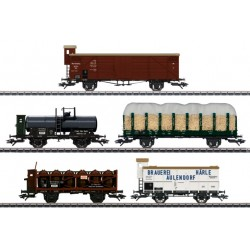 "MARKLIN 45179. H0 Set de 5 vagones de mercancías ""175 años del ferrocarril del Wurttemberg"""
