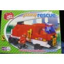 PLAYSTONE CY2201. Kit de construcción infantil CAMION DE BOMBEROS.