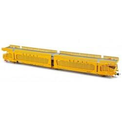 ELECTROTREN HE6013. H0 Vagón Plataforma 3 ejes, para coches, SEMAT con rejillas de protección.