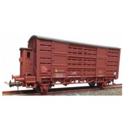 KTRAIN 0719-B. H0 Vagón Jaula con garita FG396197, rojo óxido.